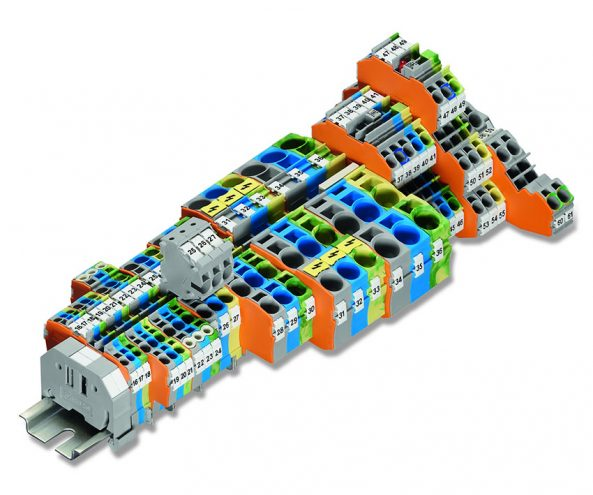 Rail-mounted terminal block systems